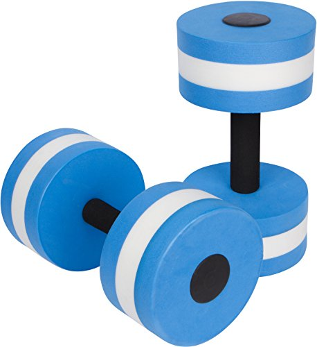 Trademark Innovations Aquatic Exercise Dumbells, Set of 2 for Water Aerobics, Blue