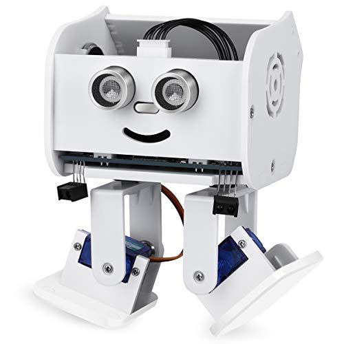 ELEGOO Penguin BOT Robot Biped Compatible con Arduino IDE Proyecto con Tutorial de Ensamblaje, Kit Stem para Aficionados, Juguetes Stem para Niños y Adultos Versión 2.0 Blanco