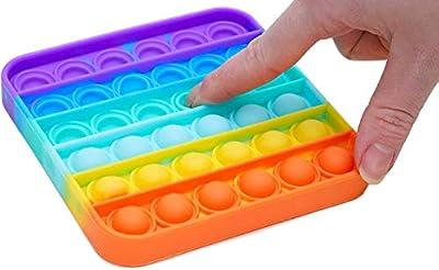 TOYLAND® Push Bubble Pop Bubble 'Pop It' Juguete sensorial Fidget - Mucho para Elegir (Arcoiris Redondo) de Toyland®