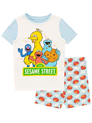 Sesame Street Mädchen Schlafanzug Slim Fit Blau 104