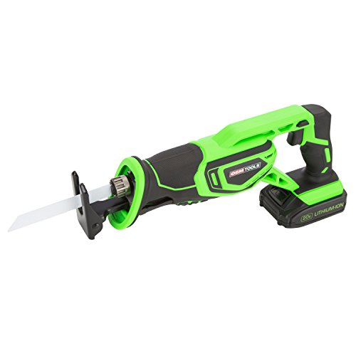 OEMTOOLS 24491 20V Max Lithium-Ion Reciprocating Saw, Cordless Saw with Battery and Charger, Bi-Metal Saw Blade, Easy Blade Changes, Battery Operated Saw