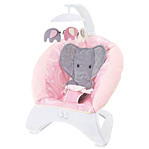 Baby Rocking Chair Music Baby Cradle Recliner Soothing Vibration New-Born Bouncer Comfort,Toy,Soft,Gift,Pink