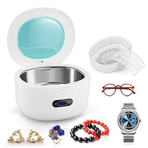 PREUP Ultraschallreinigungsgerät Ultraschallreiniger Ultraschallgerät 750ml für Reinigung von Brillen Schmuck Uhren Zahnersatz (750ml)