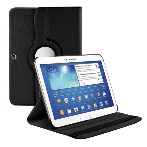 kwmobile Carcasa Compatible con Samsung Galaxy Tab 3 10.1 P5200/P5210 - Funda de Cuero sintético para Tablet en Negro