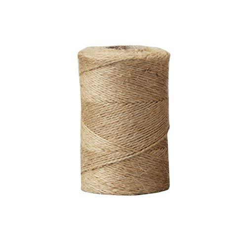 Cuerda de yute de 1 mm, cuerda de cáñamo, cuerda para envolver regalos de boda, hilo para manualidades, decoración de 200 m