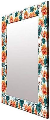 999Store Printed Rose Flowers Mirror
