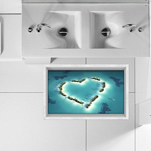 Bazaar PAG 3D badkamer hartvorm boom patroon vloer sticker anti-slip waterdicht wasbaar douchegordijn decor
