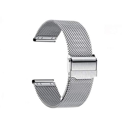 DZTIZI Universal Bracelet Maille de Montre Acier Inoxydable Libération Rapide Homme,Quick-Release Watch Band Replacement Strap Pour10mm-24mm,Steelcolor-14mm