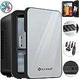 Kesser® 2in1 Mini Kühlschrank 4 Liter Edelstahl | mit Kühl- und Heizfunktion | 45 Watt |...
