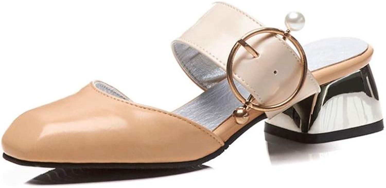 Fancyww Womens Mule Slip On Loafer Slides Flat Sandal shoes