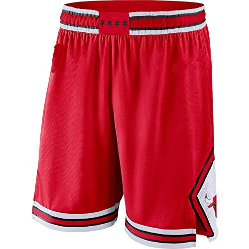 ERERT Pantalones cortos para hombre Chicago Red,Bulls 2019/20 Icon Edition Swingman Baloncesto cortos para hombres