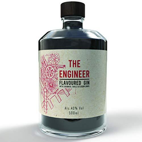 Premium Gin Premium Gin mit einzigartigem Lakritz, Chilli und Holundergeschmack - Spirituosen auf pflanzlicher Basis - Hergestellt in Hamburg, 40{f758945c874db11bce4cb4a7cf6632ec3f1ffffefea8ed23cb58f395d3b725ec} Vol (500ml)