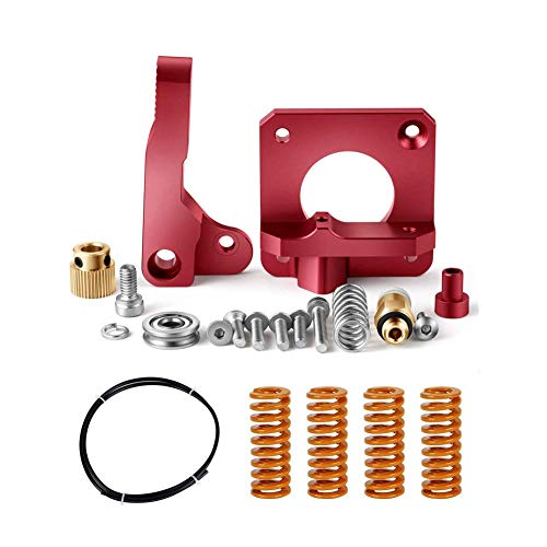 Redrex Upgrading Replacements Aluminum Bowden Extruder,Bowden Tube,Stiff All-Metal Bed Leveling Springs for Ender 3 and CR10 Series 3D Printers(Rosso)