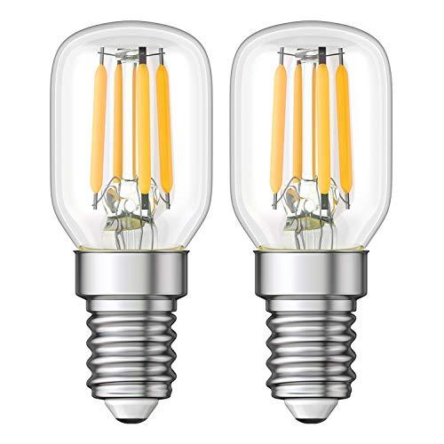 ledscom.de E14 LED Kühlschrank-Leuchtmittel klar T25 warmweiß 2700K 2W = 26W 250lm, 2 Stk.
