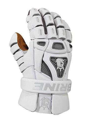 Brine King 4 Lacrosse Goalie Glove, White, 13-Inch