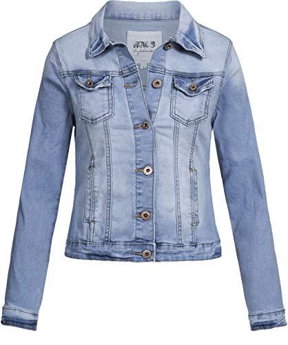 Hailys Damen Jeansjacke Enny KLT-0916525 Light Blue XL