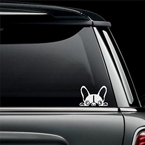 Peeking French Bulldog Custom 8inch Cars Decal Sticker | Vinyl Auto Decals & Decal Sticker for Water Bottle,Laptop, Computer, Cup, Bumper,Trucks, Motorcycle.
