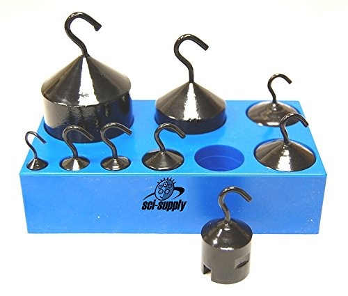 Lethan 9 Piece Hook Weight Set, Hooked Weight Mass Set (Cast Iron Only)