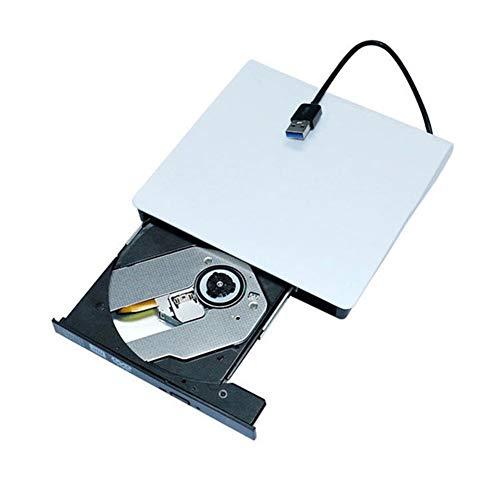 Portable USB 3.0 DVD-RW External DVD Drive DVD Player Burner Writer Ultra Slim DVD ROM Player for Windows Mac OS (Color : White, Size : A)