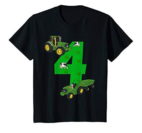 Kinder Geburtstagsshirt 4 Jahre Traktor Trecker 4. Geburtstag T-Shirt