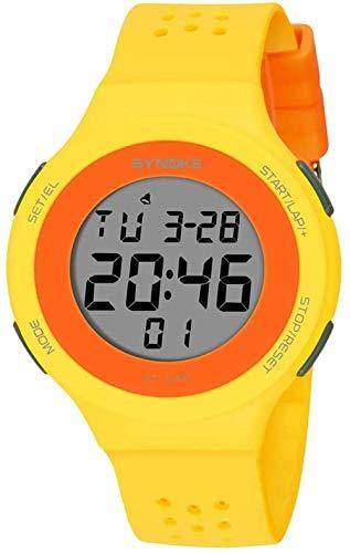 Digitaluhr für Damen Ultradünne multifunktionale LED-Schwimmen wasserdichte Bruchfestigkeit Hintergrundbeleuchtung Modische Sportuhr Elektronische Armbanduhr Geschenk für Jungen Mädchen Kinder Mä