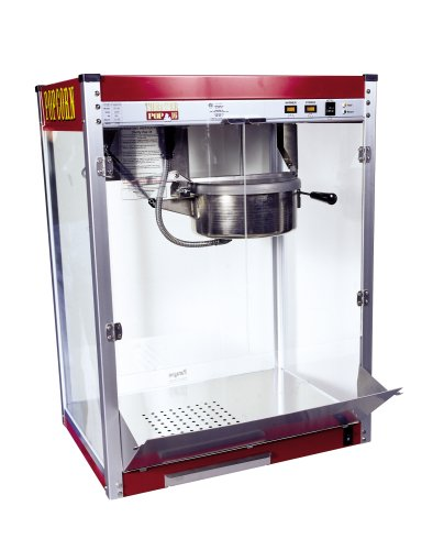 Paragon - Manufactured Fun Theater Pop 16 Ounce Popcorn Machine for Professional Concessionaires Requiring Commercial Quality High Output Popcorn Equipment, Red