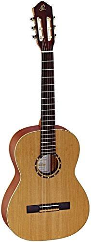 Ortega R122-7/8 Zedern-/Mahagoniholz Konzertgitarre (Größe: 7/8, natur satiniert, Luxus Gigbag)