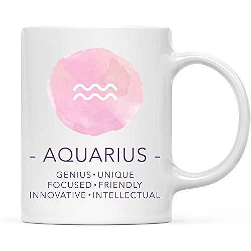 Sterrenbeeld sterrenbeeld 11 oz. Koffiemok cadeau, waterman eigenschappen aquarel, per stuk verpakt