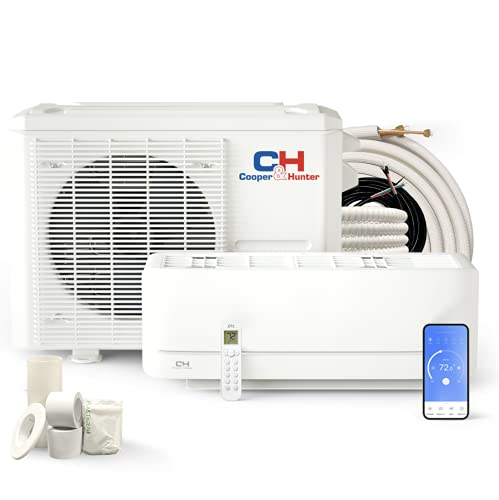 Cooper & Hunter 12,000 BTU, 115V Ductless Mini Split AC/Heating System Pre-Charged Inverter Heat Pump with 16ft Installation Kit