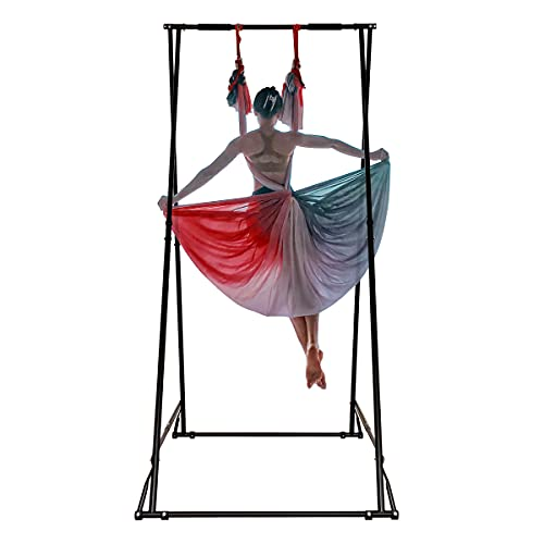KT Dedicated Stand Frame for Aerial Yoga Model KT1.1520YG. Foldable, Portable, Height Adjustable, Stable and Durable Upgraded Yoga Swing Stand Frame