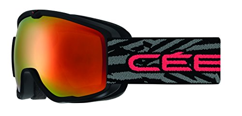 Cébé Kinder ARTIC Skibrille, Matt Black/Red, S