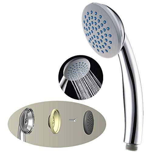 BJLWTQ Alta Presión ducha de mano Cabeza de ducha con chorro poderoso contra la baja presión de suministro de agua de la tubería, de un solo cabezal de ducha de lluvia funciones