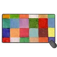 格子柄 マウスパッド 大型 ゲーミングマウスパッド キーボードパッド 防水マウスパッド 拡張マウスパッド 滑り止め ゲーム向け オフィス おしゃれ 750*400*3mm