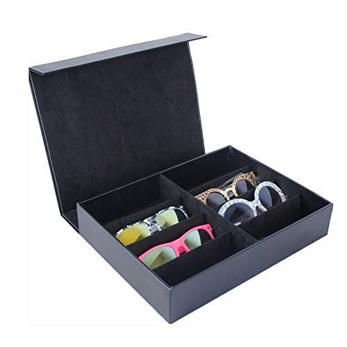 MUY Gafas de Sol Display Organizador de Almacenamiento Contenedor Caja de Almacenamiento para Viajes o Regalos de cumpleaños Bandeja de joyería