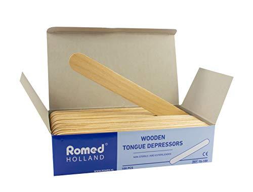 Holzspatel 15 cm x 1,8 cm von Romed Medical 100 Stück Bastelspatel
