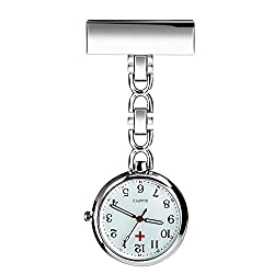 WIOR Nurse Lapel Pin Watch Hanging Medical Doctor Pocket Watch Quartz Movement Nurses Watch for Graduation Xmas Birthday Mothers Day - nurse pocket watch - pendant watches for nursing students