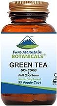 Green Tea Capsules - 90 Kosher Vegan Caps with 450mg Organic Full Spectrum and Pure Green Tea Extract
