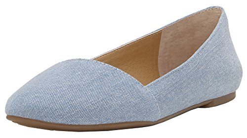 Price comparison product image Lucky Women's Archh Ballet Flat,  Chambray,  7 M US
