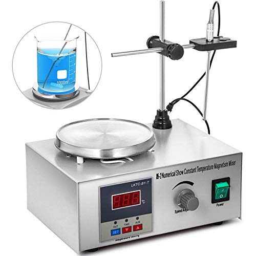 VEVOR 85-2 Magnetic Stirrer Mixer Hot Plate 1000ml Digital Magnetrührer Magnetmischer 300W Digital Display Magnetic Stirrer Mixer