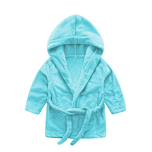 DEBAIJIA Infantil Albornoz 0-14T Bebé Bata de Baño Recién Nacido Casa Noche Ropa de Dormir Niños Pijama Camisones Niño Niña Unisexo Franela