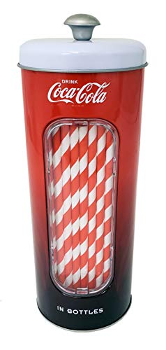 Our #5 Pick is the The Tin Box Company Coca-Cola Straw Jar Dispenser