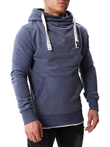 WOTEGA Herren Kapuzenpullover David - Sweat Hoodies für Männer - Kapuzensweatshirt Hoodie Pullover Sweatshirt, Blau (Grisaille Blue 183912), M