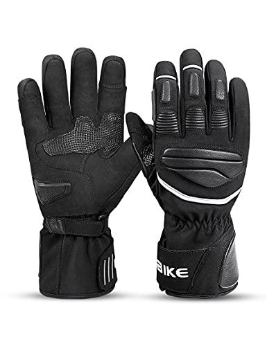INBIKE Fahrradhandschuhe Herren Winter Handschuhe Winddicht Wasserdicht mit 3M Thinsulate und HIPPRA Membran Motorrad Fahrrad Rennrad Schwarz L