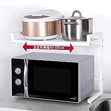 Rejilla/estante de horno de microondas de metal Estantes de cocina Mostrador y estante de gabinete (blanco)
