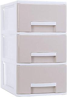 Xyanzi Almacenaje para Escritorio, Estante De Mesa Contemporáneo, Estante, 3 Gavetas, Blanco (Color : Apricot, Size : Medium)