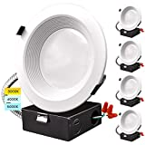 Luxrite 6 Inch LED Recessed Downlight with J-Box, 9/12/15W, 3 Color Selectable 3000K | 4000K |...