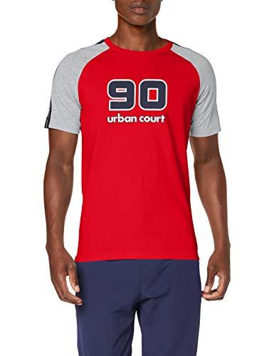 JACK & JONES Jcomaxit tee SS Crew Neck Camiseta, Multicolor (Chinese Red Fit: Slim), Medium para Hombre