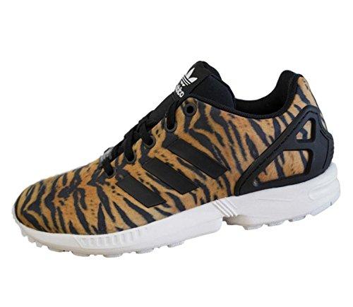 Adidas Originals ZX Flux Niñas Zapatillas Deportivas Negro/Blanco/Animal Print 30 EU