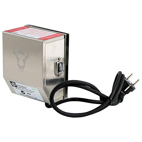 BBQ-Toro Edelstahlmotor für Grillspieß, Rotisserie und mehr, 2 U/m (Umdrehungen pro Minute) - 50 Hz - 4 Watt, inklusiver Motorhalter