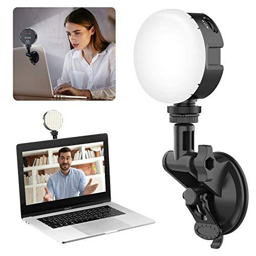 HLDUYIN Kit De Iluminación para Videoconferencia, Luz para Computadora Portátil, Iluminación con Zoom con Ventosa Mejorada Y Batería De 2000 Mah, para Videollamadas, Trabajo Remoto Luz de Relleno